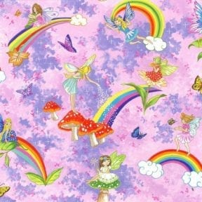 Nappy Change Bag - Fairies Rainbow